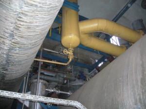 Speisewasser-Entgasungssystem mit Brüdenentspanner Feedwater degassing system with vapor flash